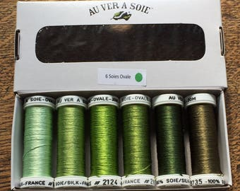 Green oval silk discovery Pack