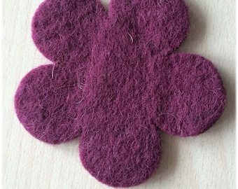 pretty little 80 mm Burgundy felt flower