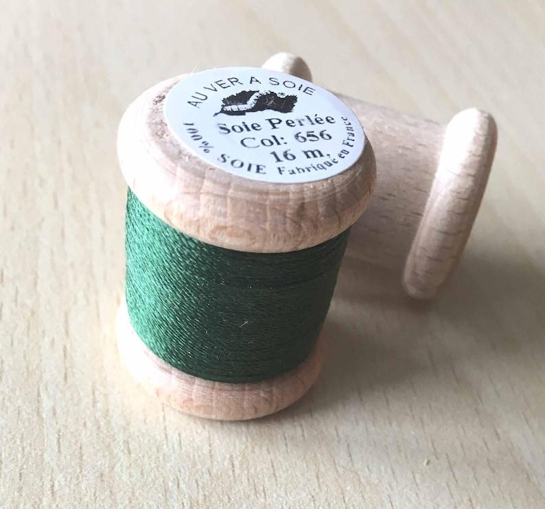 Beaded Silk Reel 656 fir green Silkworm