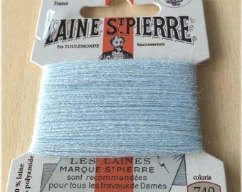 Wool thread St. Pierre 740 azure