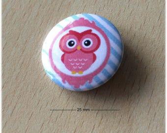 "badge 25 mm ""OWL 02"""