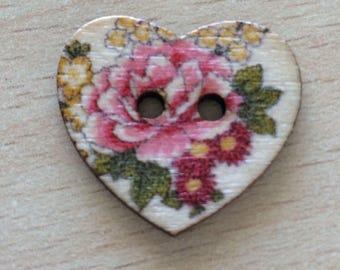 "pretty ""pink"" wooden cutout heart shape"