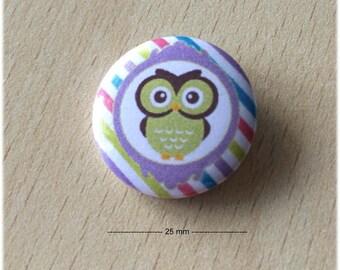"badge 25 mm ""OWL 06"""