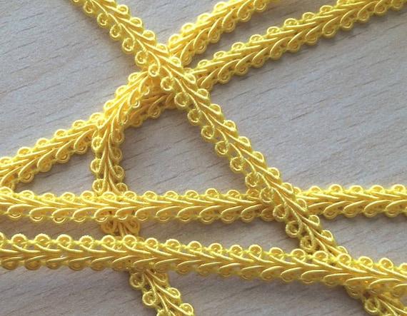 """Galon  """"épis"""" couleur jaune 081 5 mm"""