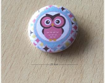 "badge 25 mm ""OWL 03"""