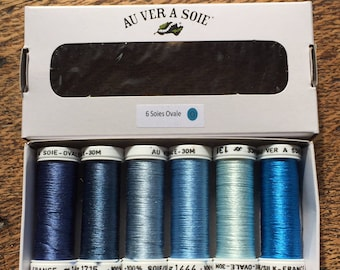 Storm blue oval silk discovery Pack