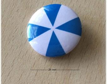 """badge 25 mm """"Windmill blue 01"""""""