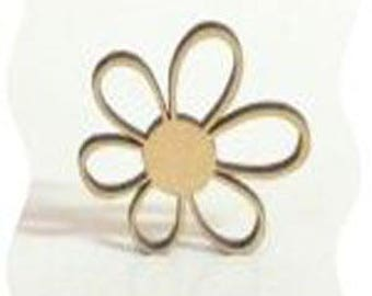 flower with six petals perforated poplar wood