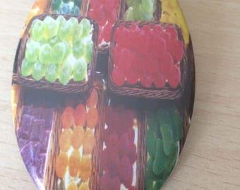 "magnets / Fridge Magnet: ""fruit multi color block"""