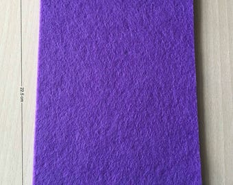 Coupon of 3 mm thick purple felt