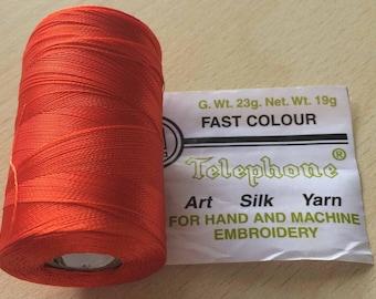 Rayon thread / 131 red geranium artificial silk