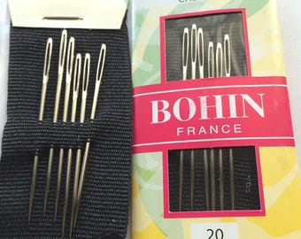 "Chenille needle size 20 set of 6 of the brand ""pins"" with tip"
