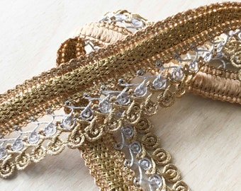 pretty lace lace twisted Silver Gold 35 mm