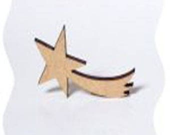 small shooting star made of poplar wood