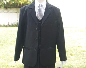 c7ef18ba4c9dc Boy s Husky 5 Piece Single Breasted Suit