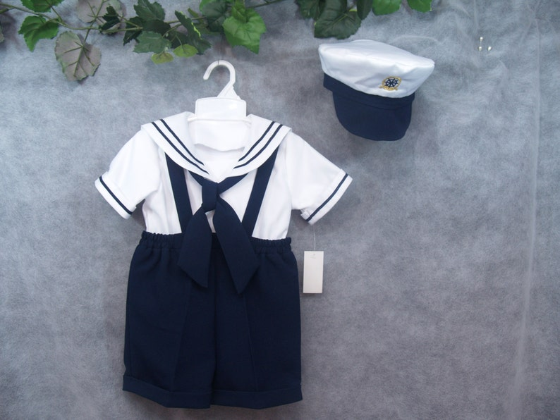 2043cd72f Toddler Boy Sailor outfit shorts with captain hat, Sailor, Navy Outfit For  Baby Boys, Navy Blue Shorts, Picture Day, Surprise Outfit