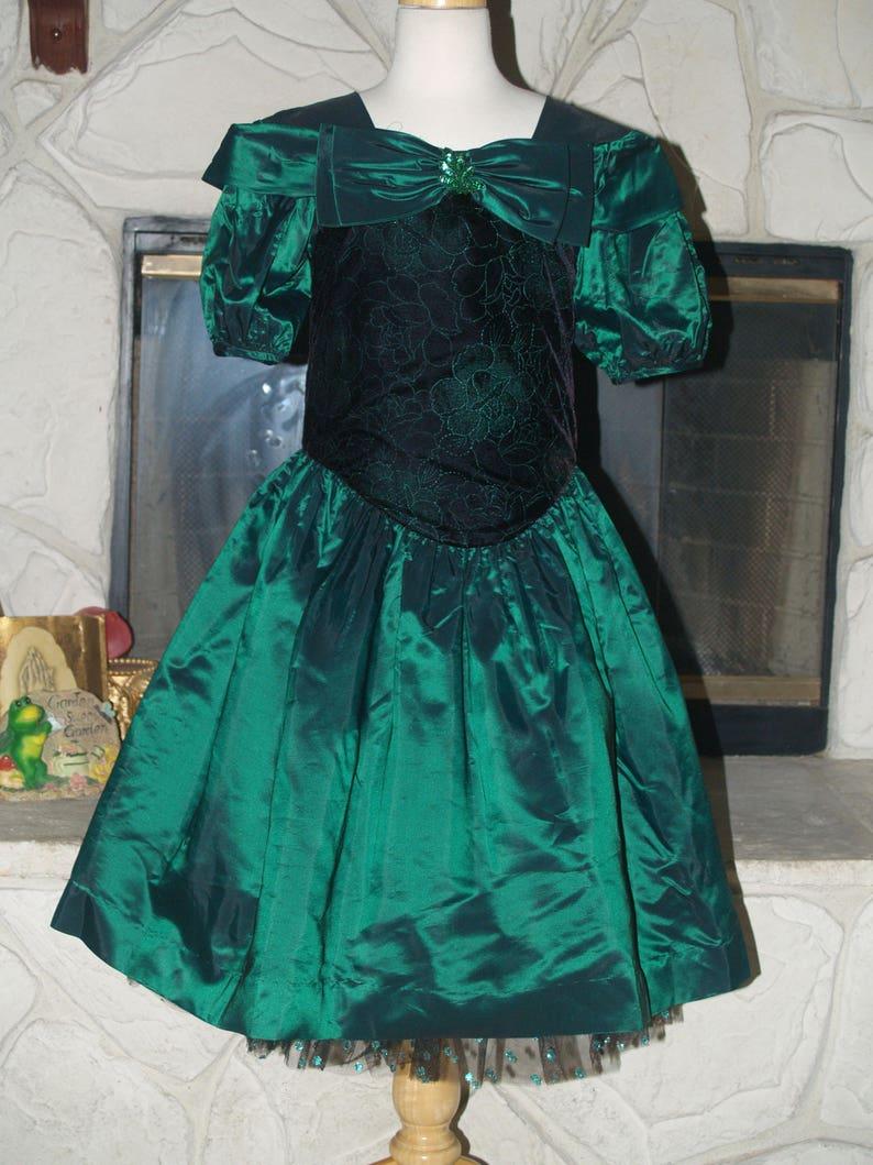 1990s Puffy Sleeve Dress