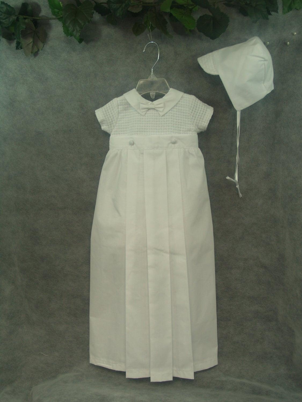 Boys White Baptism Detachable Gown Skirt Converts Into Romper | Etsy