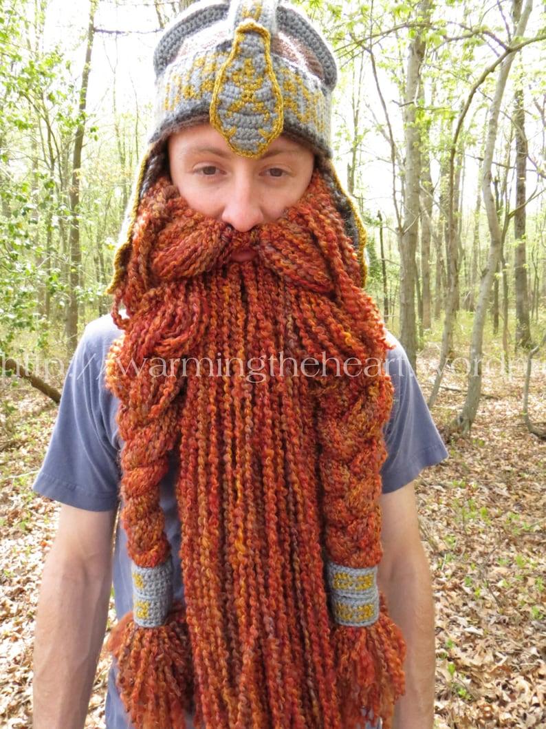 c53ddb72c78 Crochet PATTERN Gimli Inspired Beard ONLY Crochet Beard