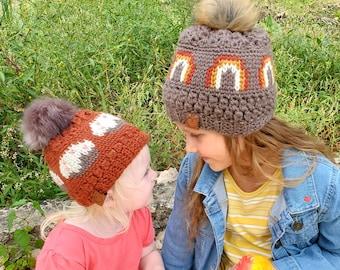 Crochet PATTERN - Frosted Rainbow
