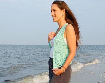 Crochet PATTERN - Catching Rays Vest