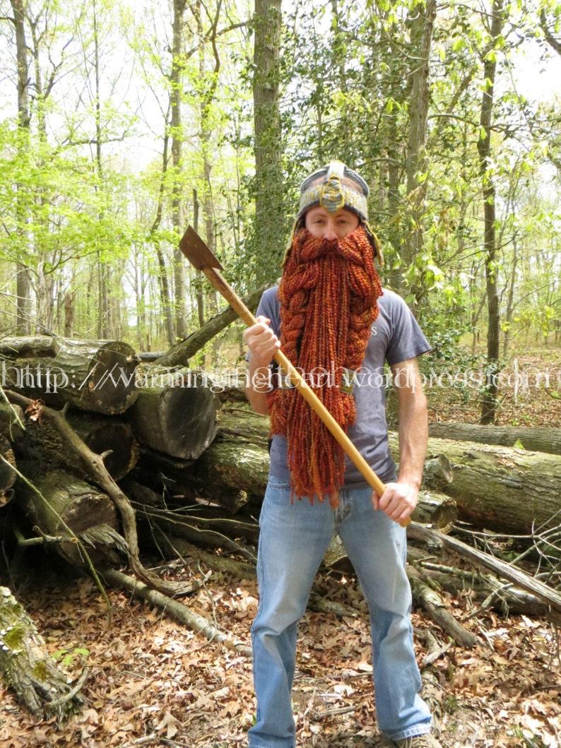 Crochet PATTERN  Gimli Inspired Helmet and Beard LOTR  image 0