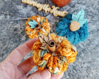 Mini Puffed Up Pumpkin - Autumn Multi