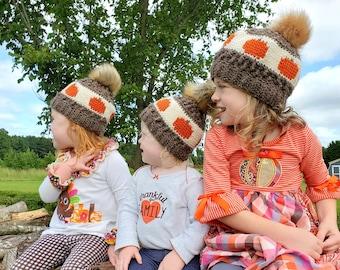 Crochet PATTERN - Autumn Waves Child