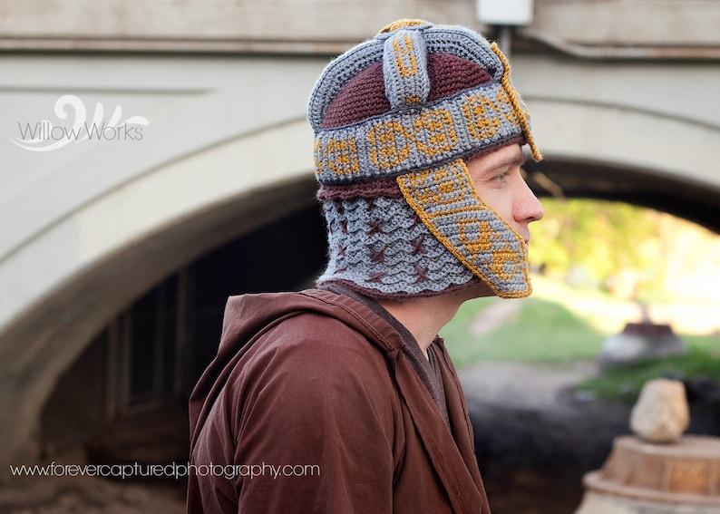 Crochet PATTERN  Gimli Inspired Helmet ONLY  Dwarven Helm  image 0