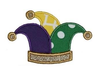 e2f20c50851 Jester Hat Mardi Gras Embroidery Design 4x4