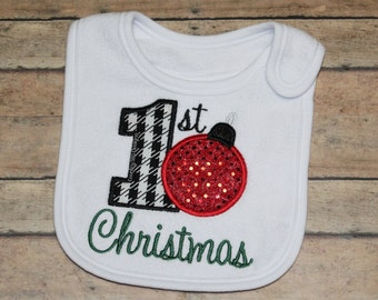 1st Christmas Applique Embroidery design -INSTANT DOWNLOAD-