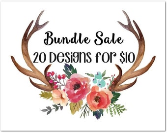 Limited Time Embroidery Bundle  Sale - 20 Embroidery Designs