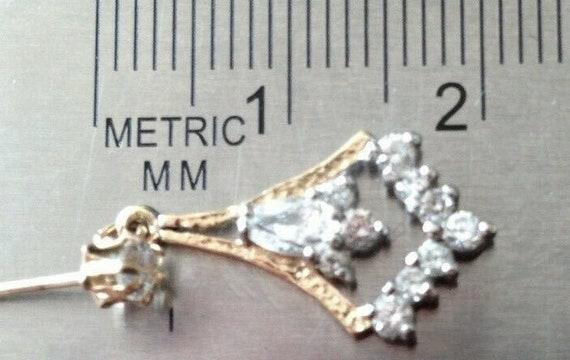 14ct Gold Chandelier Earrings - image 7