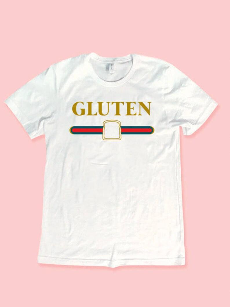 9d518da1 Vintage Gluten Gucci Logo Graphic T-shirt White Gluten Gucci   Etsy