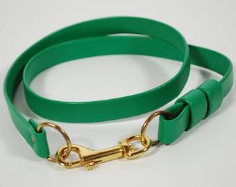 1970's Belt - 70's Green Faux Leather Belt - Size