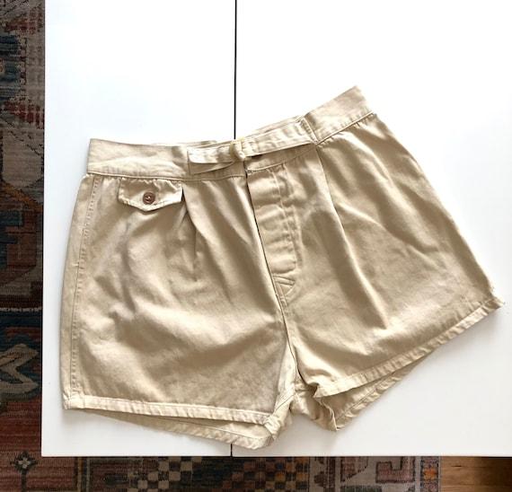 """Vintage 50's/60's Khaki Sportswear Shorts - 32"""" Wa"""