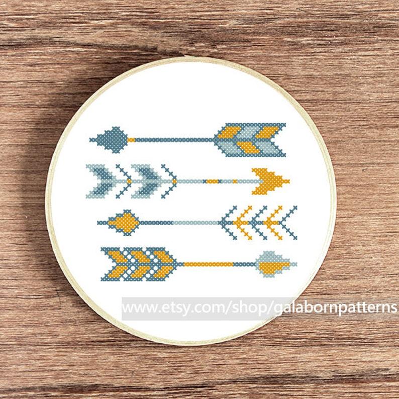 Arrows cross stitch pattern, cross stitch pattern, counted cross stitch,  Easy cross stitch, Modern cross stitch pattern, Scandinavian Summer