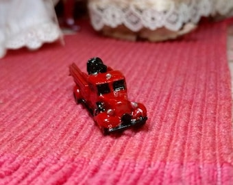 Dollhouse Miniature Old Pewter Fire truck Item
