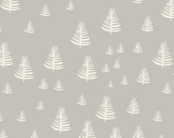 Pack n' Play Sheet - 26x36 - Organic - Fable Forest in Gray - Lore - Cloud 9 - Pre-made and Ready to Ship