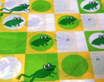 """Frog Print Patterned Tissue Paper - Party Supply - Gift Wrap - 8 full sheets - 20"""" x 30"""" size"""