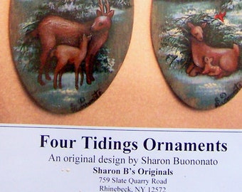 Four Tidings Ornament Collection by Sharon Buononato Tole Painting Pattern