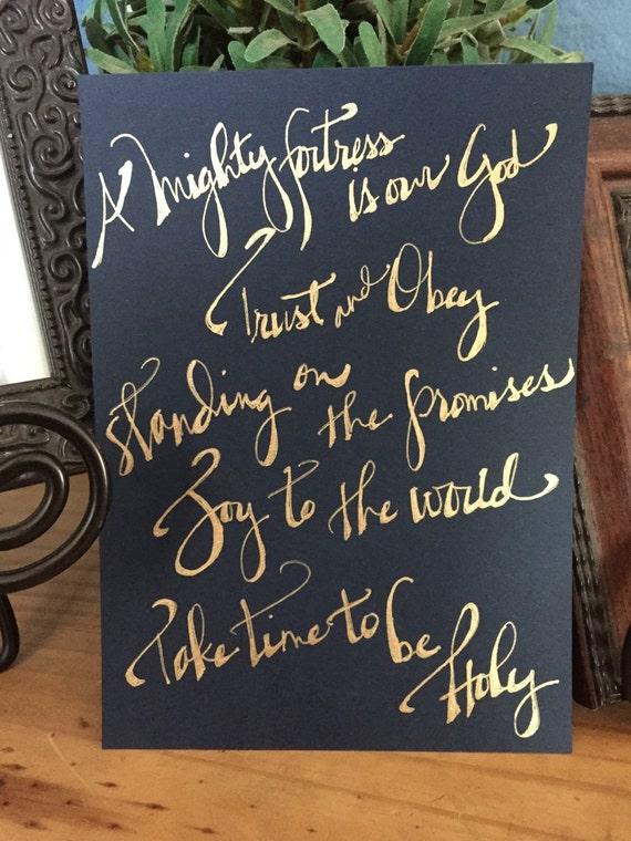 custom calligraphy bible verse wedding vows song lyrics etsy