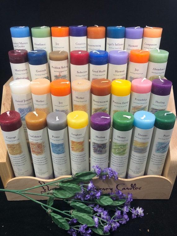 Herbal Magic Candle, Scent Pillar Candles, Vegan Candle, Reiki, Candle Magic, Manifestation candle