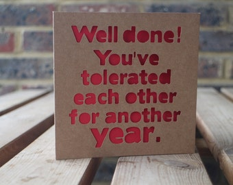 Well done anniversary Card