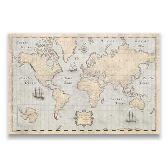 World travel push pin map rustic vintage cork pin board sciox Image collections