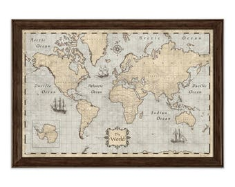 World map poster etsy best selling items favorite favorited add to added world map poster gumiabroncs Choice Image