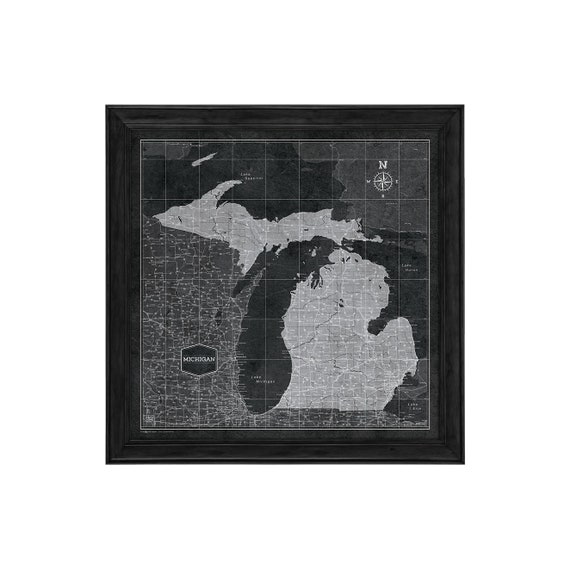 Michigan Map Poster - Modern Slate Style Travel Map on michigan maps online, michigan area codes, southeastern mi map, michigan culture, michigan government, michigan trip, michigan travel brochure, michigan trivia, michigan travel destinations, michigan home, michigan-ohio map, michigan travel guide, michigan hotels, michigan vacation, michigan travel poster, michigan activities, michigan country, michigan travel information, michigan beach resorts, michigan time,