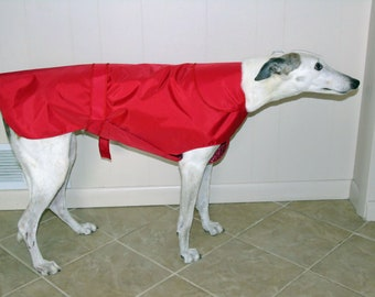 Greyhound Raincoat, Red, R4