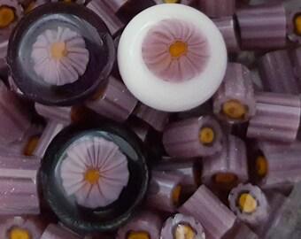 Purple Petunia Murrini COE 104 handmade glass chips for lampwork or fusing.