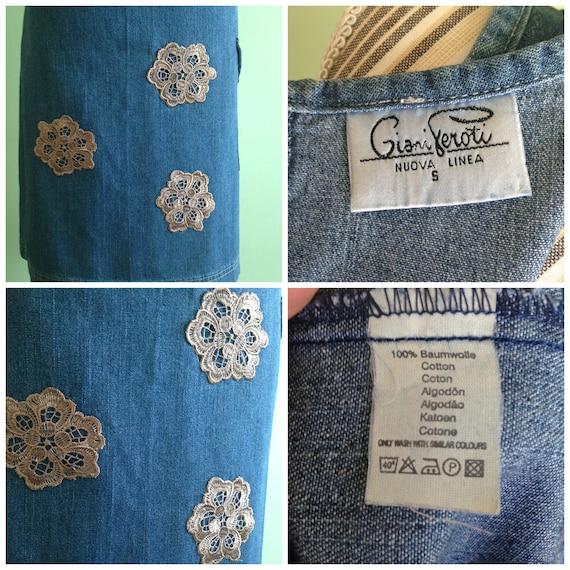Denim Blue Fitted Midi Dress, Sleeveless Jeans Dr… - image 5